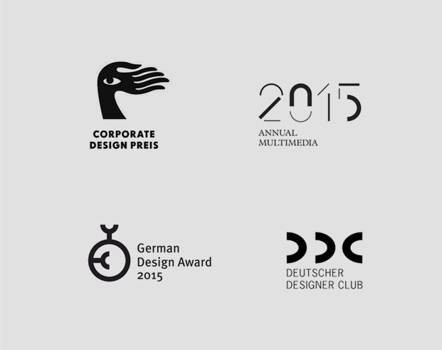 Musikfabrik Awards, Corporate Design Preis, Annual Multimedia, German Design Award, DDC Award